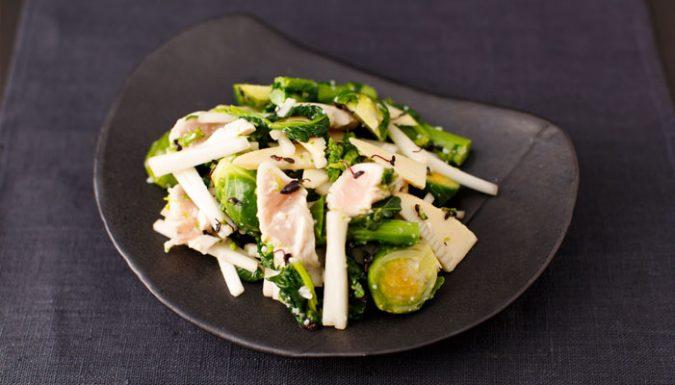 春野菜のゆず味噌塩糀あえ