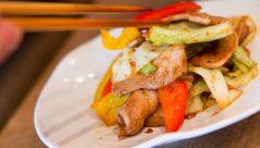肉と野菜のしょうが焼き