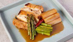 焼き鶏と焼き野菜の ぶっかけ冷丼漬け