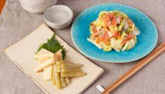 筍とフキのゆず味噌漬け 鮭とキャベツの塩糀漬け