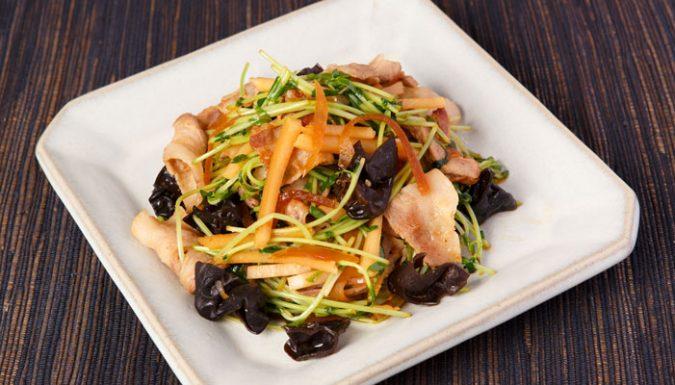 白瓜と豚肉の中華風炒め
