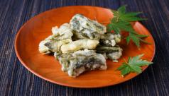 野沢菜の天ぷら(北信州)