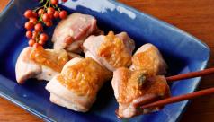 鶏もも肉の塩焼き ねぎ味噌添え