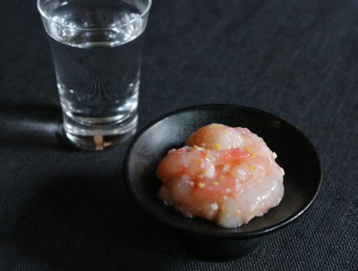 甘えびの塩糀漬け日本酒