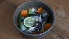 【味噌の日】焼き秋刀魚の味噌汁